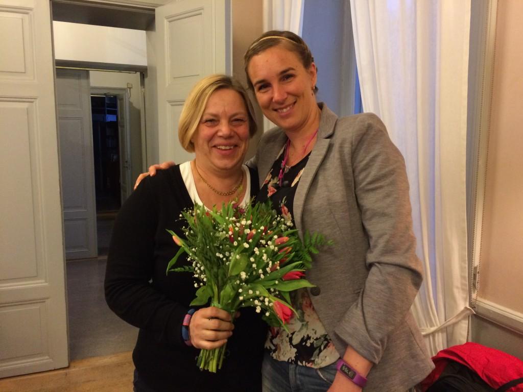 Lena Johansson (t.v.) och Linda Grimstedt.